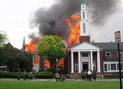 Longfellow Park Chapel fire