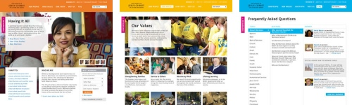 Design comps from Mormon.org redesign